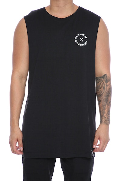 Rats Get Fat X Jesse Taylor Shell Muscle Tee Black