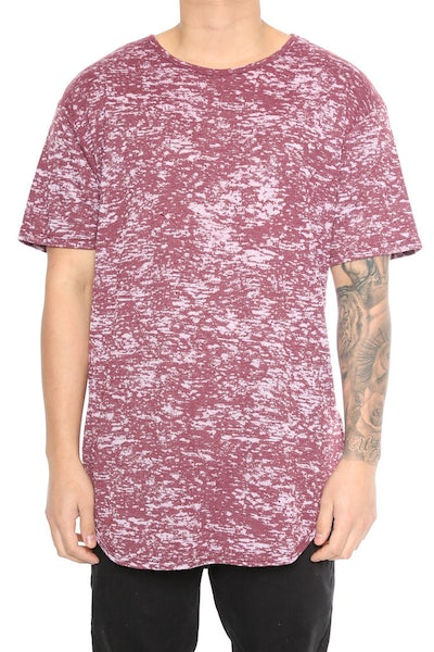 EPTM Burnout OG Long Tee Burgundy