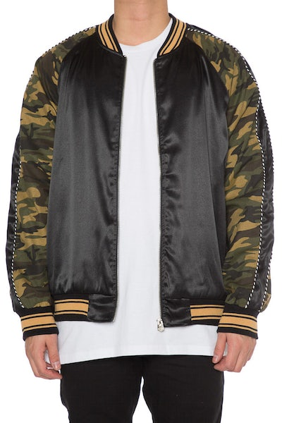 EPTM Camo Satin Jacket Black