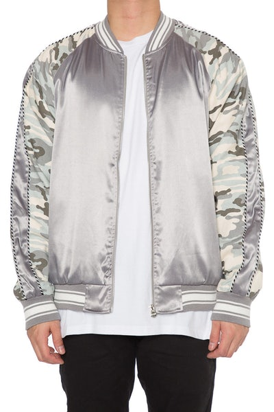 EPTM Camo Satin Jacket Grey