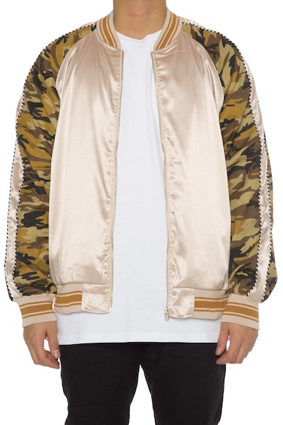 EPTM Camo Satin Jacket Tan