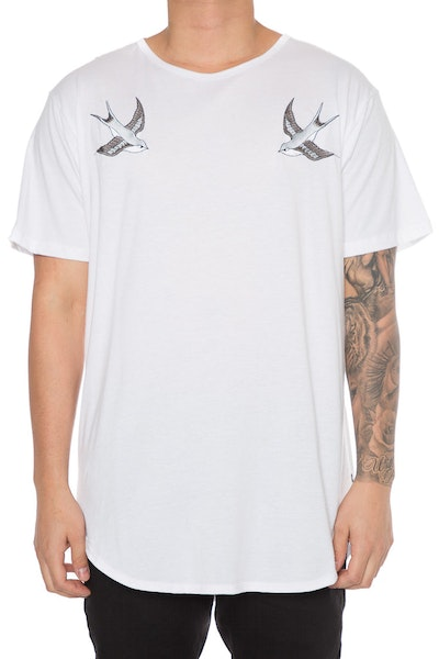 EPTM Embroidery Birds OG Long Tee White