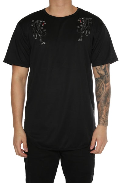EPTM Embroidery Tiger OG Long Tee Black
