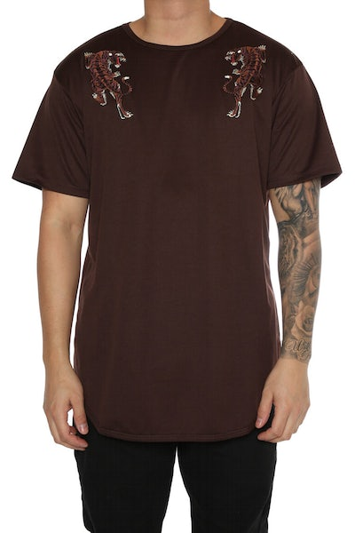 EPTM Embroidery Tiger OG Long Tee Brown