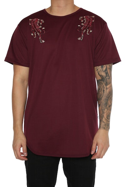 EPTM Embroidery Tiger OG Long Tee Maroon
