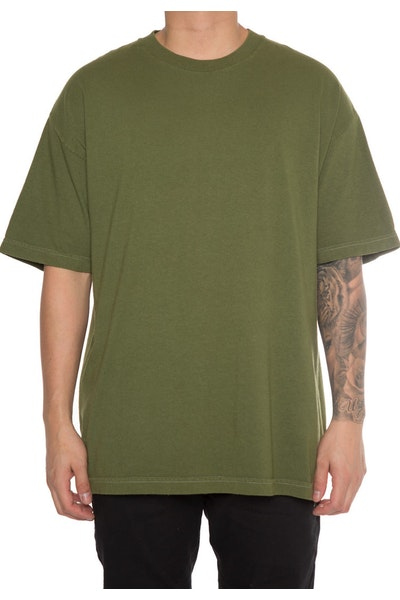 EPTM Embroidery Rose Box Tee Olive