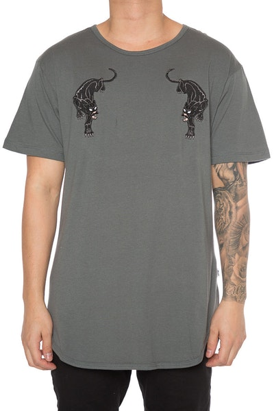 EPTM Panther Embroidery Tee Charcoal