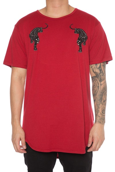 EPTM Panther Embroidery Tee Red