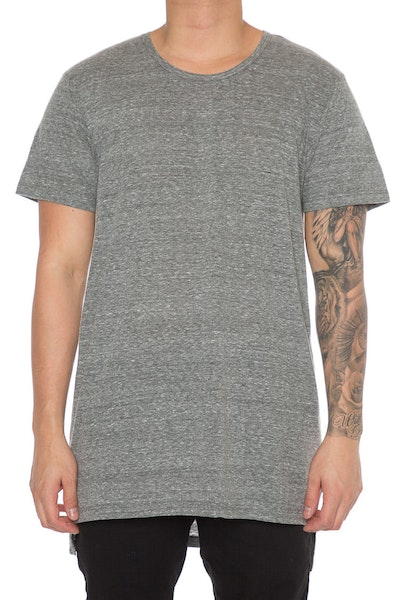 EPTM SQ Bottom Long Tee Heather Grey