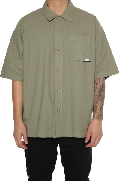 EPTM Washed Drop Shoulder Shirt Olive