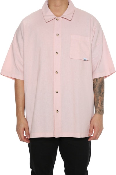 EPTM Washed Drop Shoulder Shirt Pink