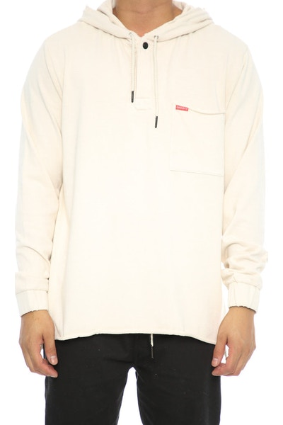 Crooks & Castles Fury Rugby Hooded Long Sleeve Cream