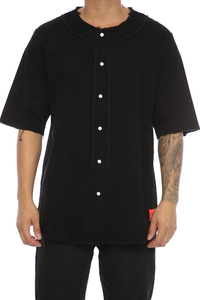 Crooks & Castles Fury Baseball Jersey Black