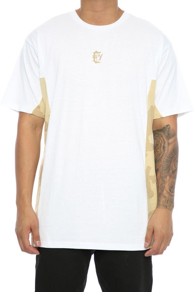 Crooks & Castles Desert Strike Camo Tee White