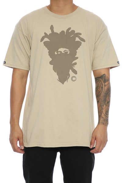 Crooks & Castles Cryptic Medusa Tee Khaki