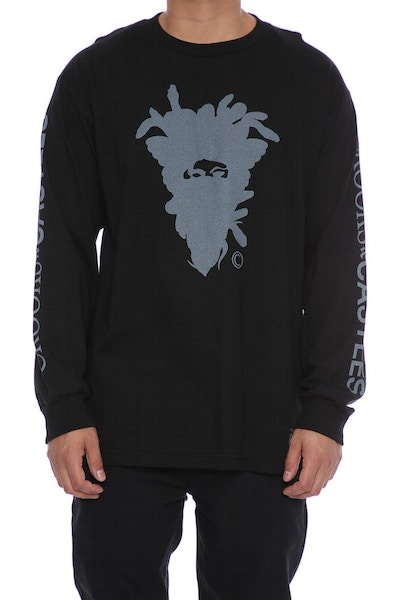Crooks & Castles Cryptic Medusa Long Sleeve Tee Black