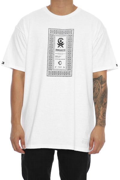 Crooks & Castles Classified Tee White
