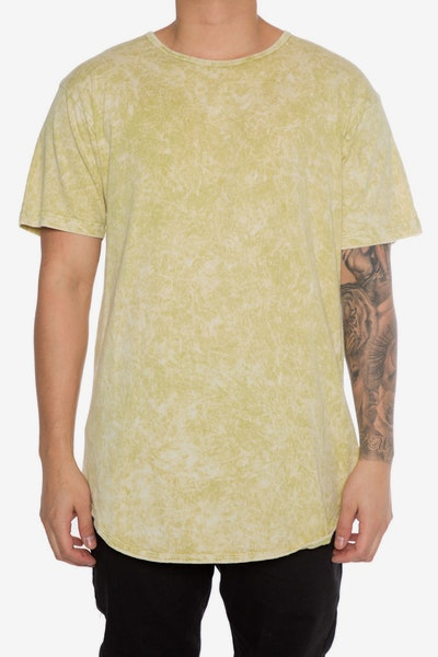 EPTM Mineral Wash OG Long Tee Lime