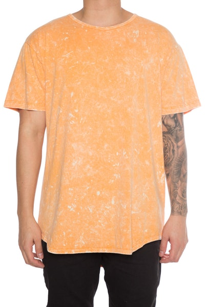 EPTM Mineral Wash OG Long Tee Orange