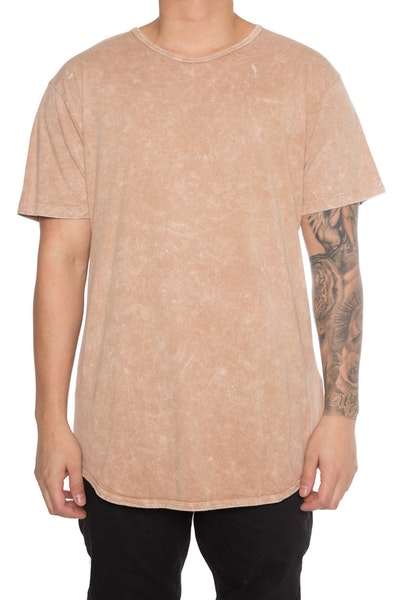 EPTM Mineral Wash OG Long Tee Tan
