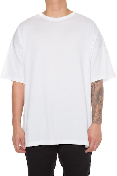 EPTM Drop Shoulder Oversize Tee White