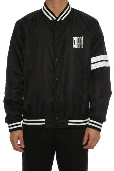 Carré Noir Varsity Jacket Black