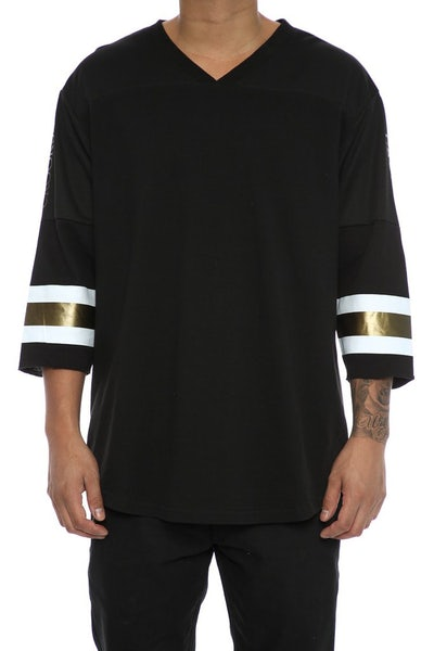 Crooks & Castles Redzone Football Top Black