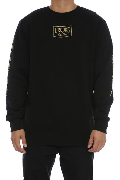 Crooks & Castles Fades Crewneck Black