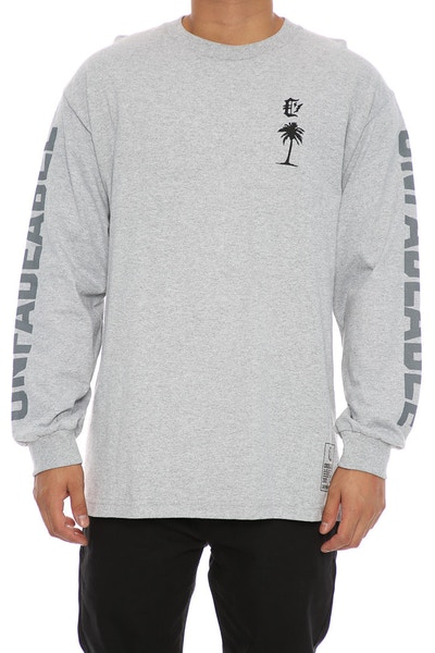 Crooks & Castles Unfadeable Long Sleeve Tee Heather Grey