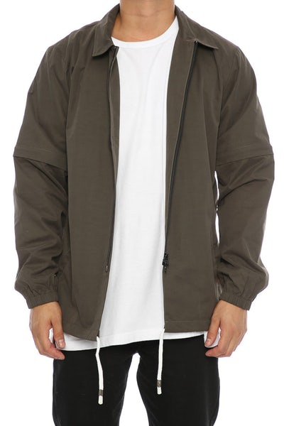 Crooks & Castles Ace Coaches Jacket Green
