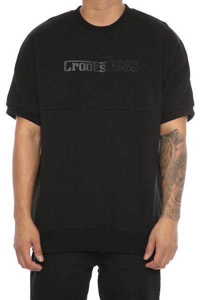 Crooks & Castles Clutch Dolman SS Crew Black