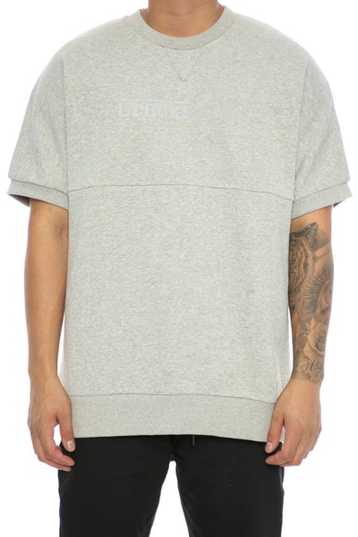 Crooks & Castles Clutch Dolman SS Crew Heather Grey
