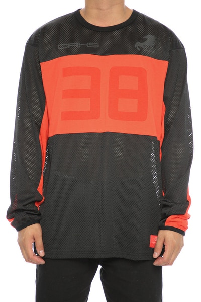 Crooks & Castles Circuit L/S Jersey Black