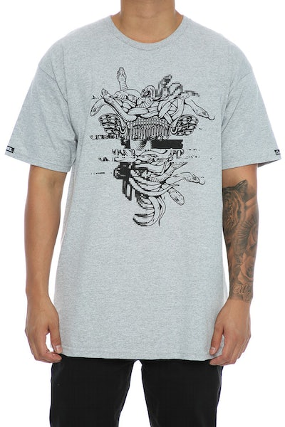 Crooks & Castles Galactic Medusa Tee Heather Grey