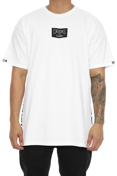 Crooks & Castles Block Patrol Tee White