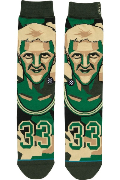 Stance Mosaic Bird Sock Green