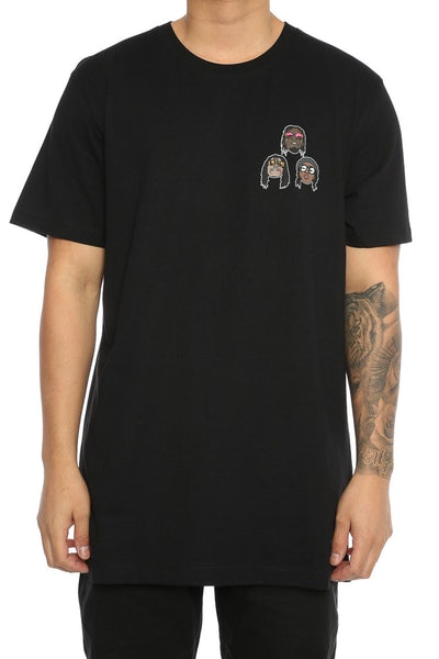 Goat Crew Amigos Rapper Head Tee Black