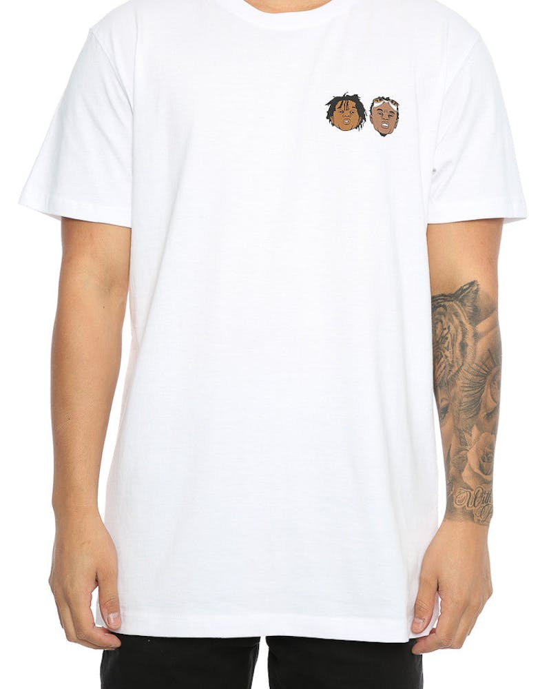 Goat Crew Swae & Slim Rapper Head Tee White