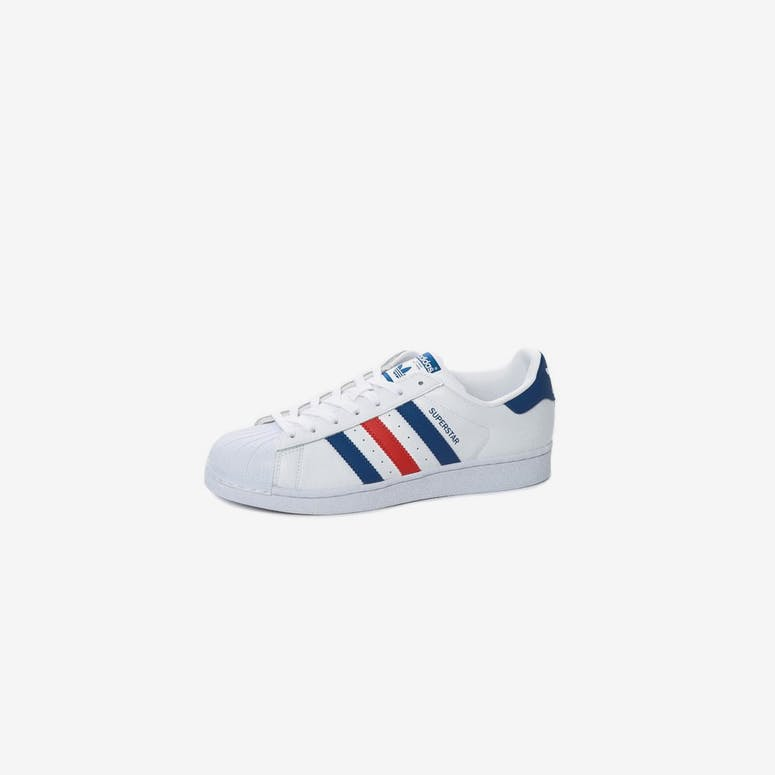 12bf0a714c5add Adidas Originals Superstar White Blue Red
