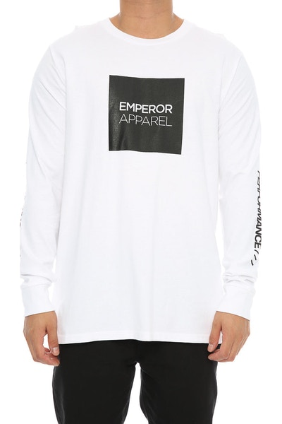 Emperor Apparel Tech Long Sleeve Tee White