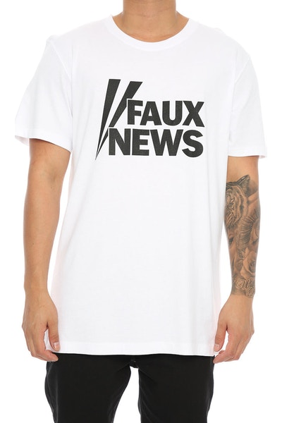 Goat Crew Faux News Tee White