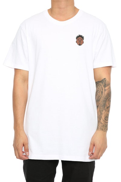 Goat Crew Savage Rapper Head Tee White