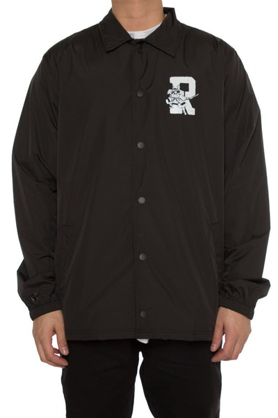 Rats Get Fat Damage Coach Jacket Black