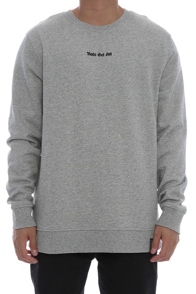 Rats Get Fat Unknown Crewneck Grey