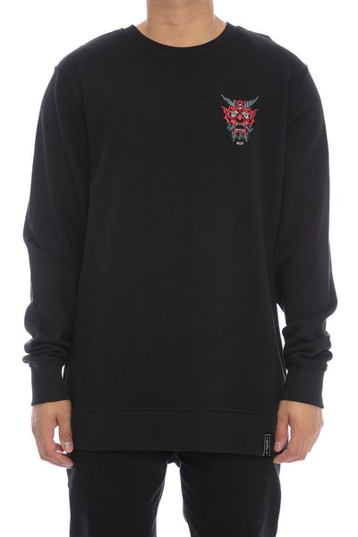 Rats Get Fat Demon Crewneck Black