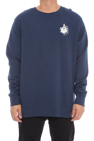 Rats Get Fat Rose & Dagger Crewneck Navy