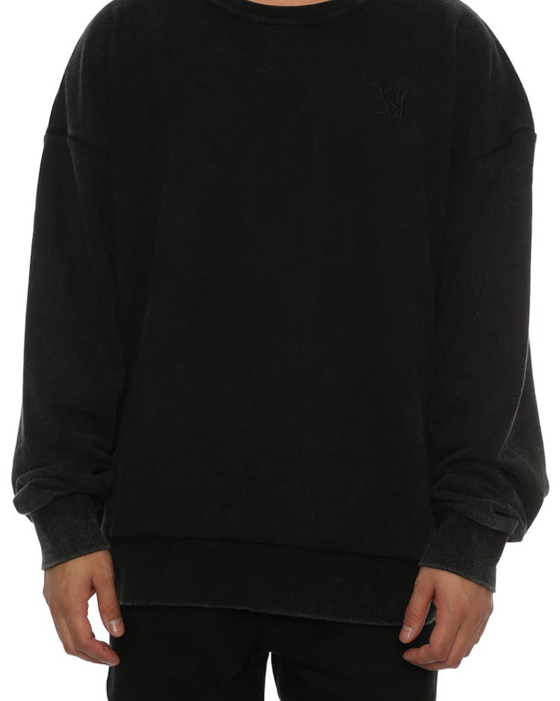 Saint Morta Monogram Oversized Sweater Black