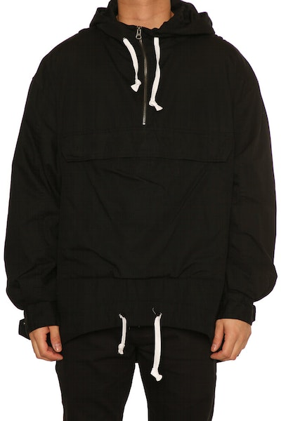 Saint Morta Wither Anorak Washed Black