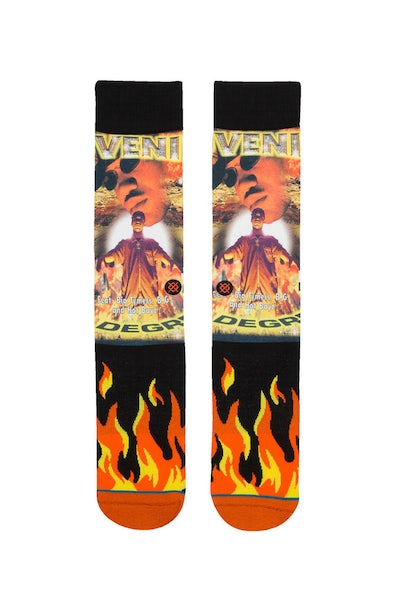 Stance Juvenile Sock Black/Yellow/Orange