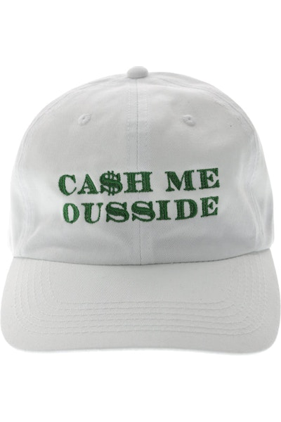 Goat Crew Ca$h Me Outside Strapback White